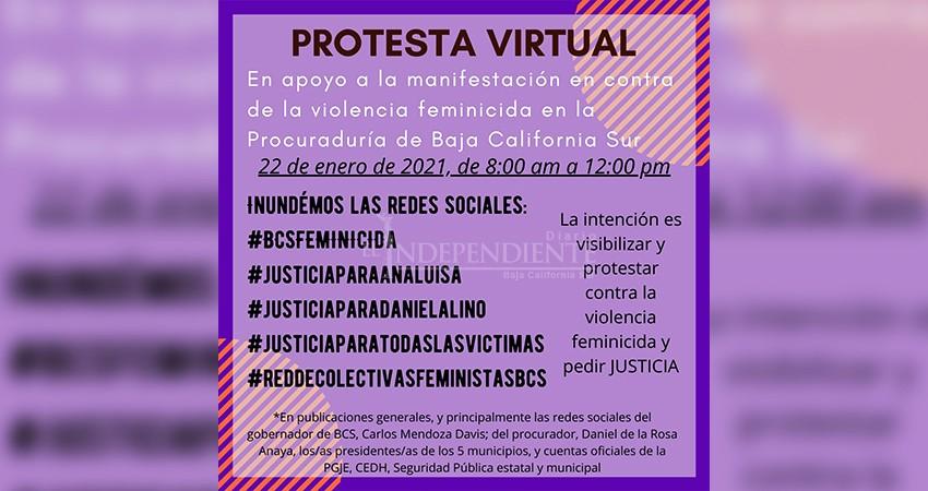 Bloquean autoridades protesta virtual contra feminicidios