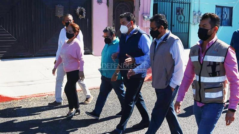 Entrega el alcalde Rubén Muñoz la obra de pavimentación de la calle Damiana