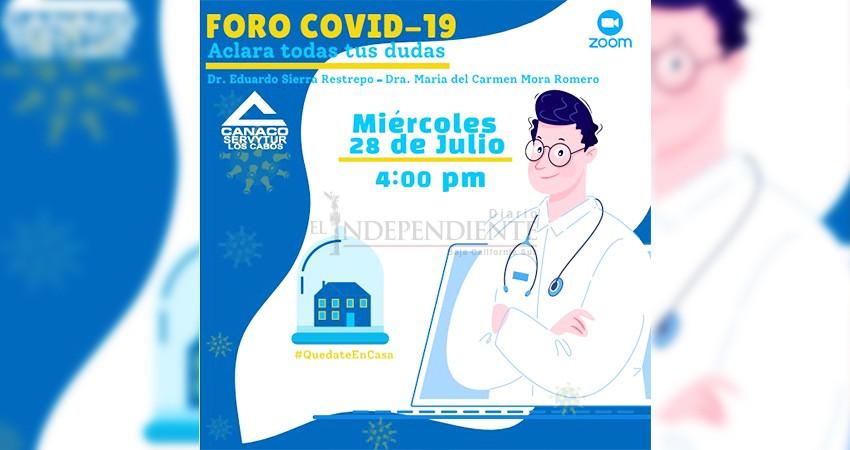 """Canaco organiza el """"Foro Covid"""", para aclarar dudas sobre la enfermedad"""