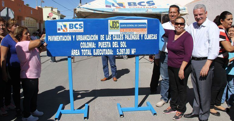 Inauguró MCV la pavimentación de casi 78 mil metros cuadrados