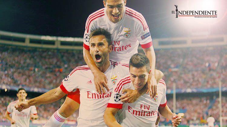 Benfica vence al Atlético de Madrid a domicilio; Jiménez fue titular