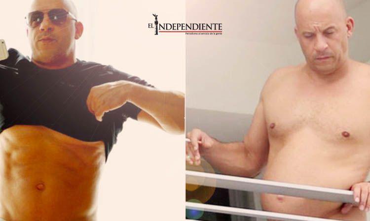 Vin Diesel muestra 'lavadero' ante aparente sobrepeso