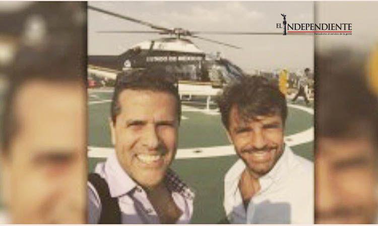 Presume Marco A. Regil  junto a Eugenio Derbez el uso de helicóptero del Edomex como taxi aéreo