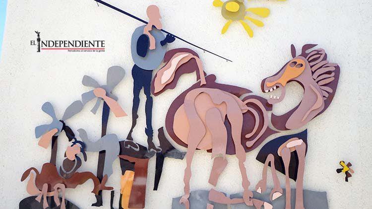 """El mural de """"El Quijote"""" en la UABCS fue un gran reto y una buena experiencia: Aníbal Angulo"""
