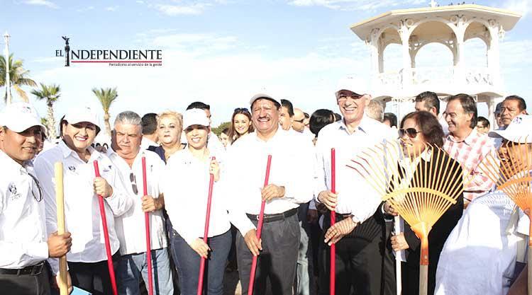 Inició el Ayto de La Paz con la limpieza y pintado del malecón de La Paz