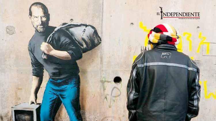 Banksy retrata a Steve Jobs como un refugiado sirio