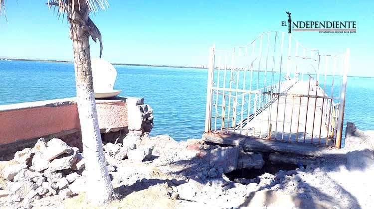 Concluyó el año y no se hizo nada por el Muelle de la reina en el malecón de La Paz