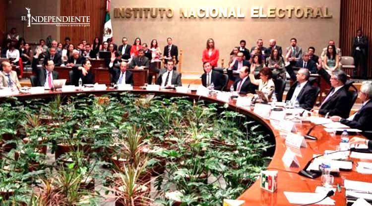 El INE aprueba sancionar por 39.4 MDP a nueve partidos