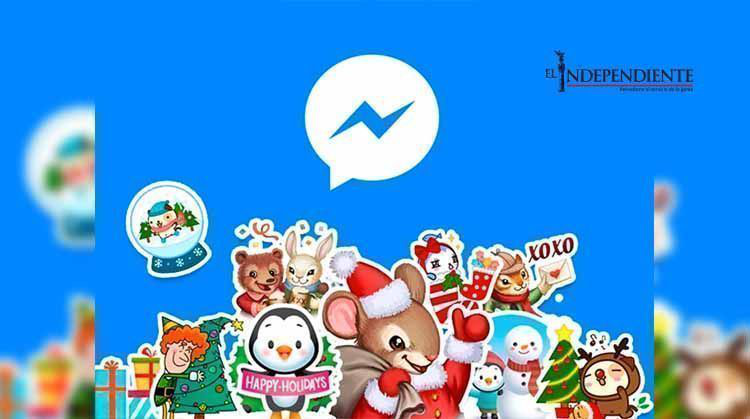 Facebook le da un toque navideño a tus mensajes