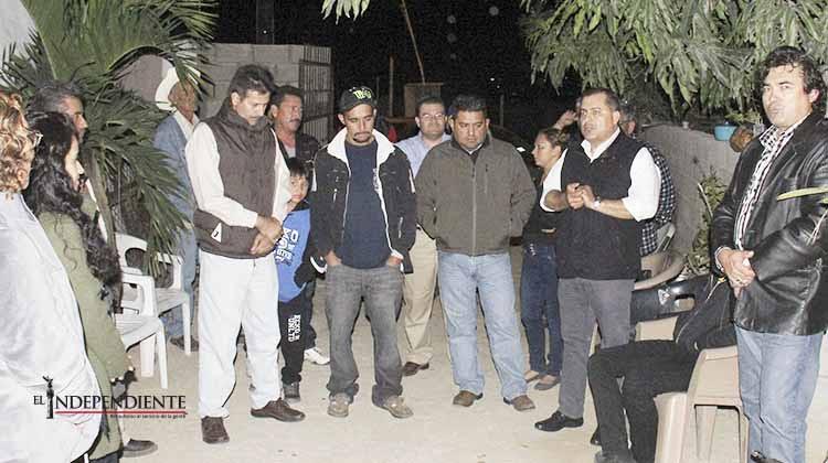 Atiende Secretario General a familias en contra de construcción de gasolinera en El Zacatal