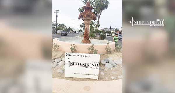 Rehabilita Diario El Independiente, fuente ornamental en La Paz