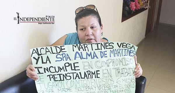 Fui despedida injustificadamente y el Alcalde Martínez no me da la cara, acusa ex empleada