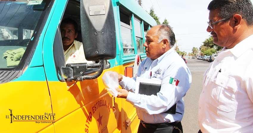 Son supervisadas las unidades del transporte público de La Paz