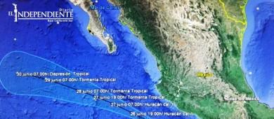 """Solo lluvias dejaría  el huracán """"Dora"""" en Baja California Sur: PC"""