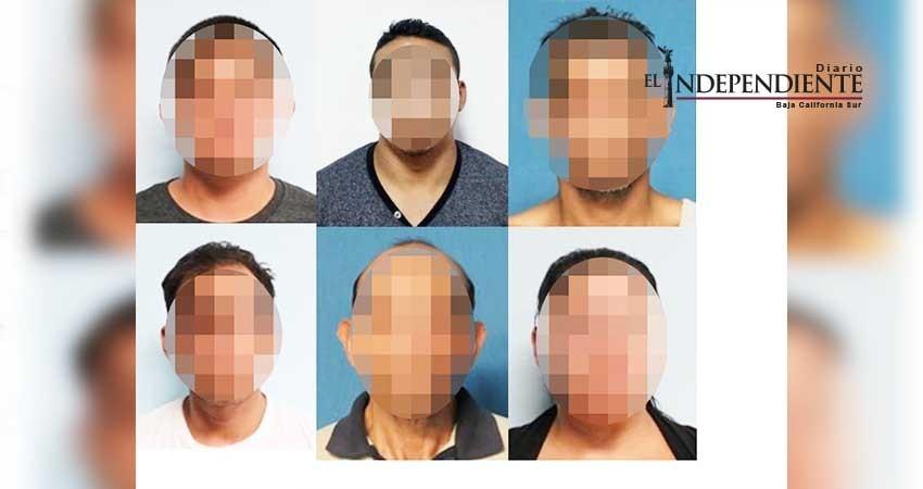 Agentes del Mando Mixto detuvieron a seis personas