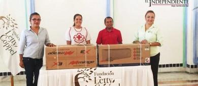 Recibe Cruz Roja CSL donativo de aire acondicionado para área de curaciones