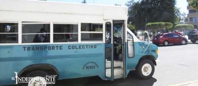 Piden choferes del transporte público derecho a prestaciones de ley