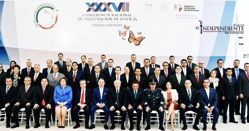 Presente PGJE de BCS en la 37 asamblea de la conferencia nacional de procuración de justicia
