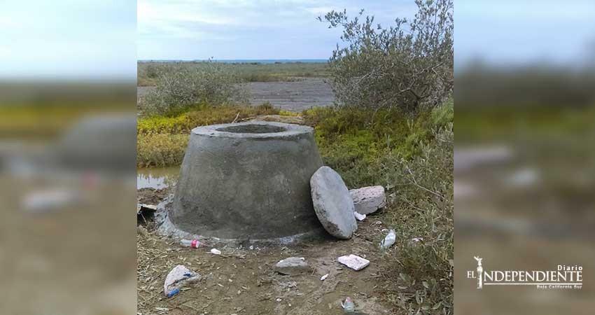 Derrame de aguas negras en estero de La Paz ya fue solucionado