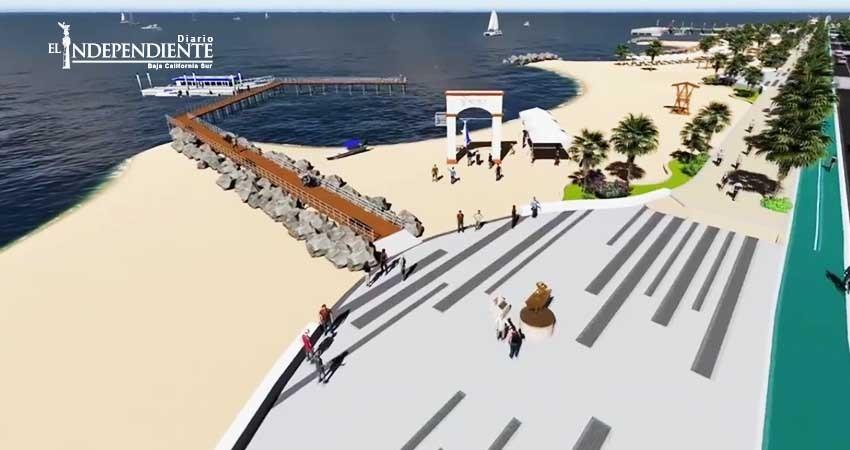 Pese a crisis, Ayuntamiento de La Paz cubrirá el 10% del nuevo malecón
