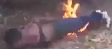 Video: Prenden fuego a presunto violador de niña en Chiapas