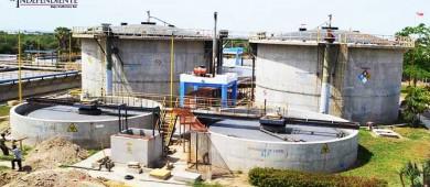 Planta de aguas negras a un 85 por ciento de avance