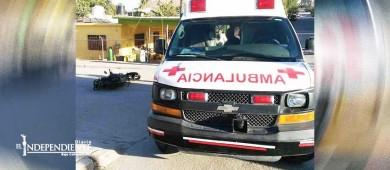 Un adulto y un niño de 2 años salen lesionados al caer de una motocicleta