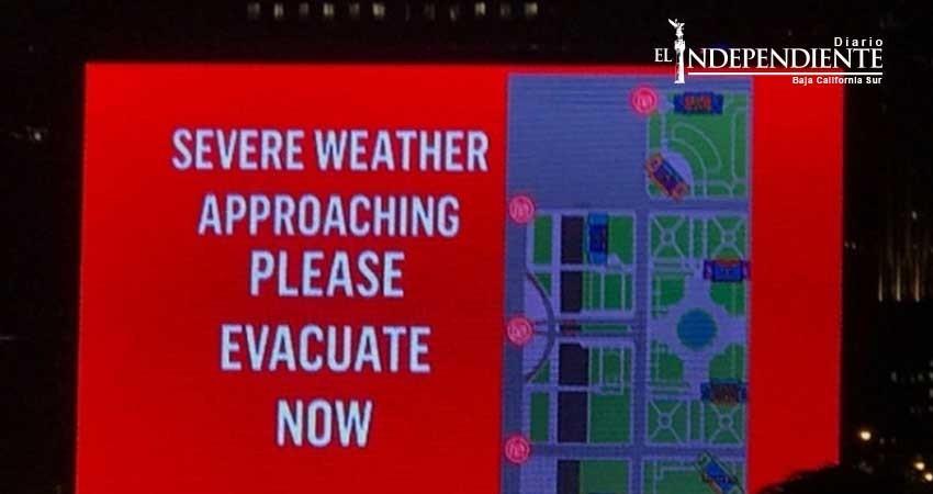 Evacuan Lollapalooza por mal clima