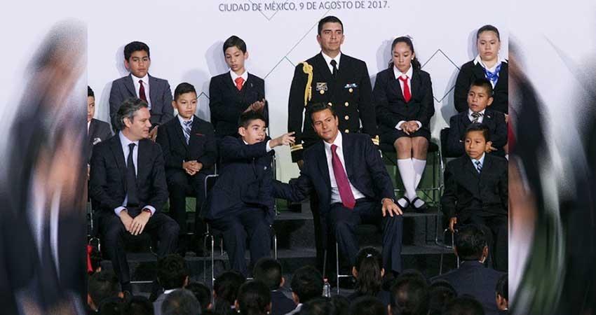 Anuncia EPN inversión de 80 mmdp para mejorar escuelas