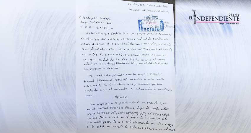Denuncian ante Profepa construcción de pozo de agua en San Juan de los Planes