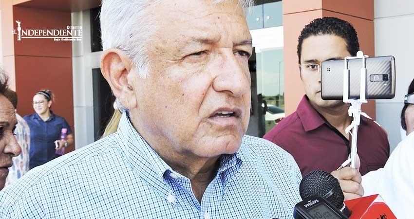 """""""El actual gobierno es una decepción para BCS"""": López Obrador"""