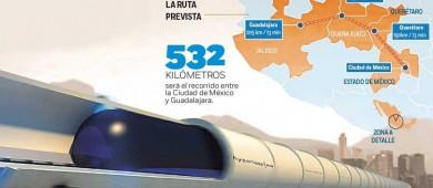 Traerán a México tren ultrarrápido; cubrirá la ruta CDMX-Guadalajara