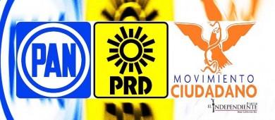 Por primera vez se reúnen dirigentes del PAN, PRD y MC