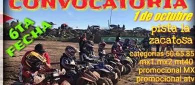Se correrá la 6ta. fecha del campeonato de motocross