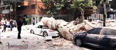 Derrumbes en edificios y vialidades  deja el sismo 7.1 grados en México