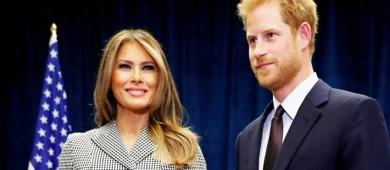 Melania Trump se reúne con el príncipe Enrique en Toronto