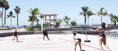 Realizan exitoso torneo de voleibol de playa juvenil