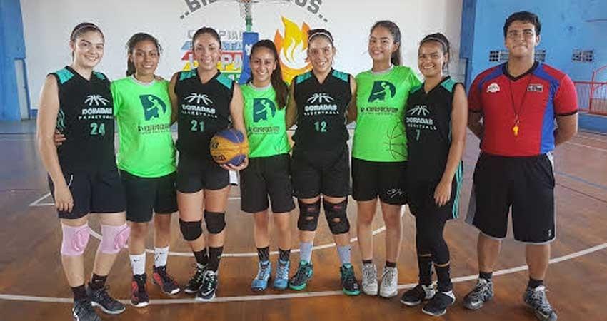 Club Doradas, campeonas del estatal de basquet 3X3