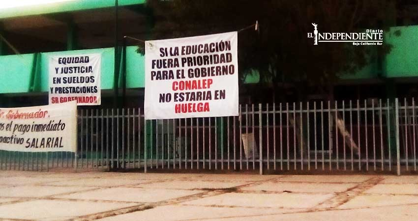 """Rechaza sindicato del Conalep levantar huelga tras recibir propuesta con """"cifras maquilladas"""""""