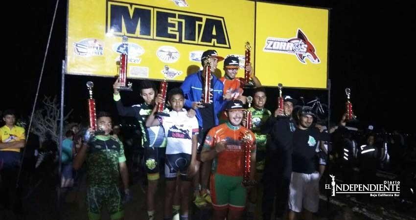 Positiva la carrera de MTB Nocturna en el Vizcaíno