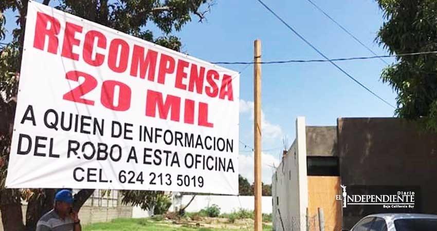 Víctimas de robo en el centro de San José del Cabo (SJC) ofrecen recompensa de 20 mil pesos