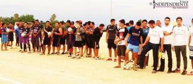 Inauguran torneo de fútbol 7 en Buena Vista