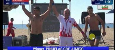 En cuarto lugar terminó el luchador Jesús Piñuelas
