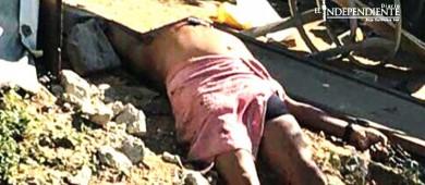 Hallan a hombre asesinado a balazos en las inmediaciones del fraccionamiento Colinas Plus