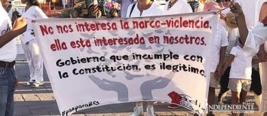 Realizan marcha por la paz de Baja California Sur