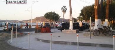 Avanzan los trabajos de remodelación del Malecón de La Paz