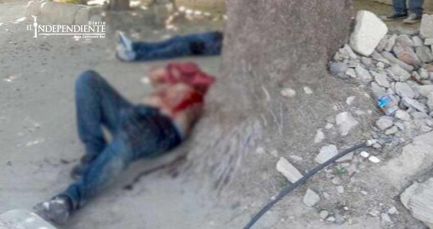 Asesinan a una persona y hieren a otra  en la colonia Pueblo Nuevo de La Paz