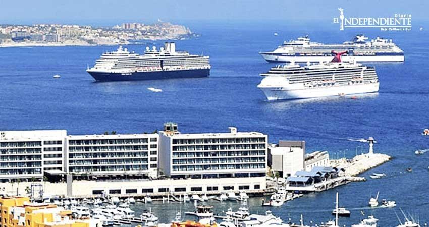 Llega el primer triple arribo de cruceros de la temporada alta al puerto de CSL