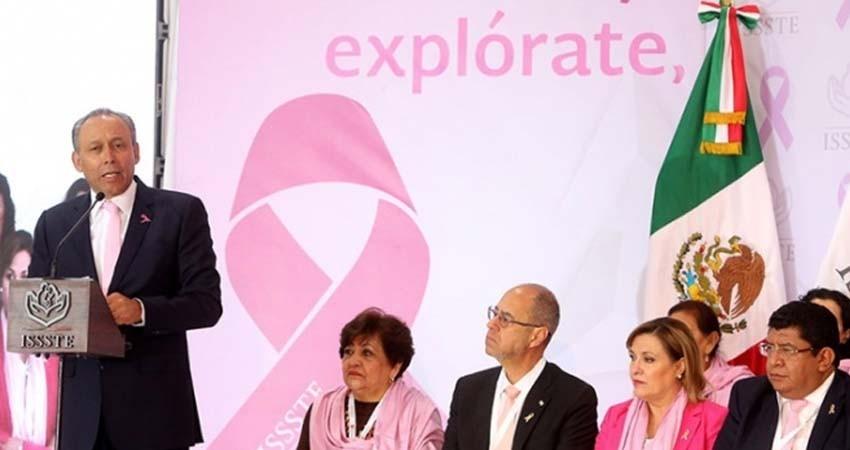 Presume ISSSTE menor tasa de mortalidad en cáncer de mama