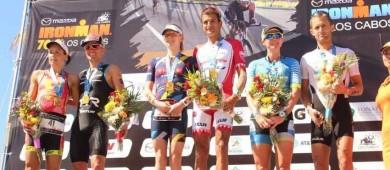 T. Bozzone y Jeanni Seymour ganadores del Ironman 70.3